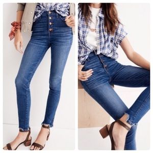 """Madewell 10"""" High Rise Skinny Button Jeans"""